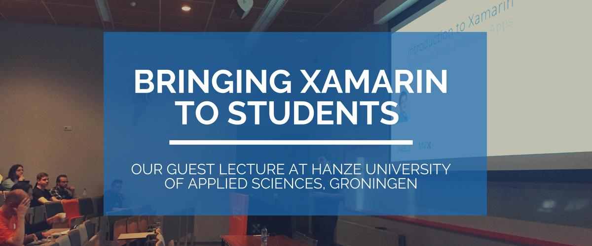 Bringing Xamarin to students blog banner